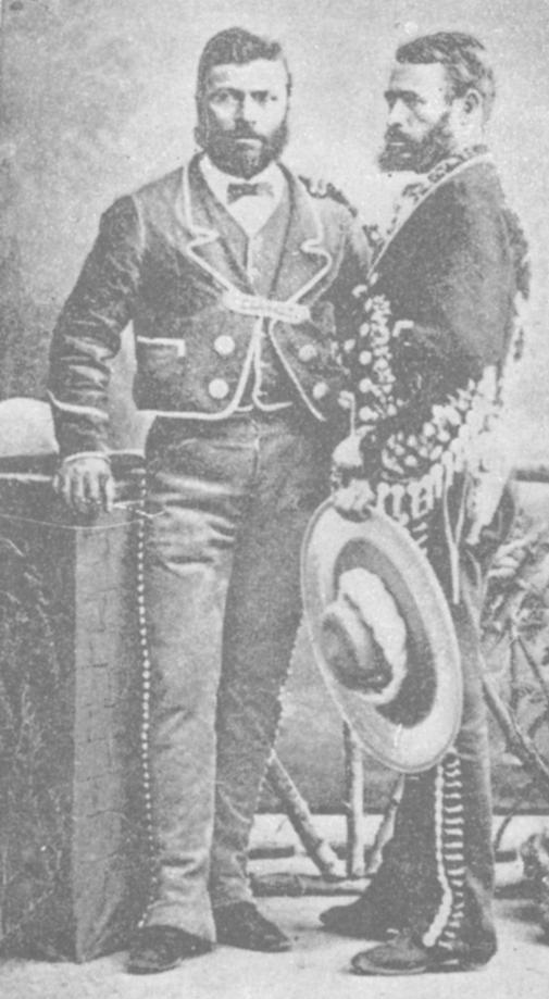 Vaqueros in hacendado dress (From Gooch, Face to Face with Mexicans, 1897)